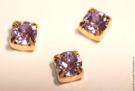 Кристаллы № 371 Violet.  Ювелирные касты под золото.