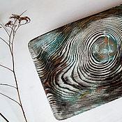 """Для дома и интерьера ручной работы. Ярмарка Мастеров - ручная работа чабань, чайная доска """"бирюзовое дерево"""". Handmade."""
