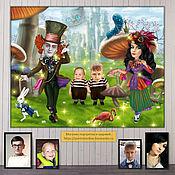 Сувениры и подарки handmade. Livemaster - original item Birthday or anniversary gift. Alice in Wonderland cartoon. Handmade.