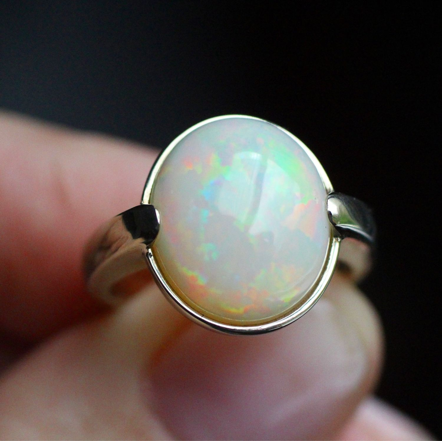 Looking glass ring with opal 4, Rings, Moscow,  Фото №1