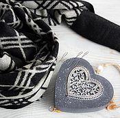 """Аксессуары handmade. Livemaster - original item Узкий шерстяной мужской шарф  """"Зимний"""". Handmade."""