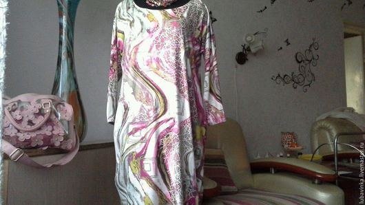 Платья ручной работы. Ярмарка Мастеров - ручная работа. Купить платье - яйцо Вот и осень. Handmade. Комбинированный, летучая мышь