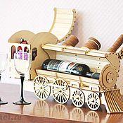Для дома и интерьера ручной работы. Ярмарка Мастеров - ручная работа Паровоз — подставка для вина. Handmade.