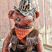"""Куклы и игрушки ручной работы. Ярмарка Мастеров - ручная работа мишка тедди """" Ковбой"""". Handmade."""