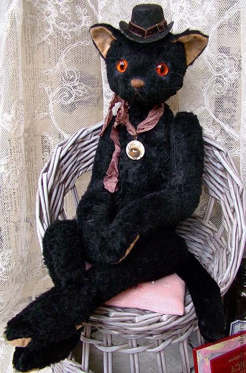 Мишки Тедди ручной работы. Ярмарка Мастеров - ручная работа. Купить Кошка Черная №3. Handmade. Черный, друзья тедди