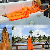 Одежда ручной работы. Ярмарка Мастеров - ручная работа Длинное платье, платье в пол для отпуска. Handmade.