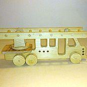 Куклы и игрушки handmade. Livemaster - original item Fire truck. Handmade.