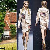 """Одежда ручной работы. Ярмарка Мастеров - ручная работа Костюм """" Домики"""" куртка+юбка. Handmade."""