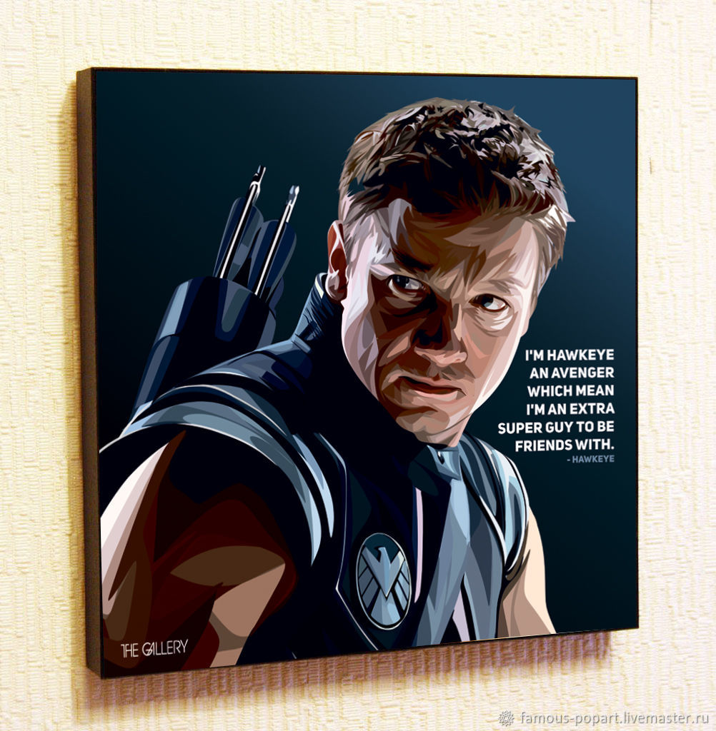 Picture Poster Hawkeye Avengers Marvel Pop Art, Fine art photographs, Moscow,  Фото №1