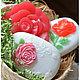 """Мыло ручной работы. Ярмарка Мастеров - ручная работа. Купить """"Три розы"""" Набор мыла ручной работы. Handmade."""