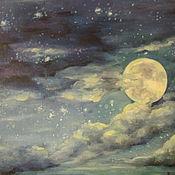 Картины и панно ручной работы. Ярмарка Мастеров - ручная работа Лунная ночь. Handmade.
