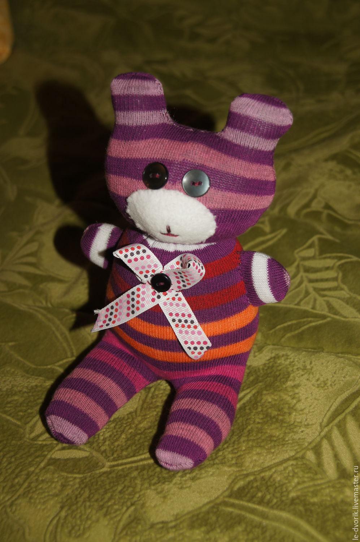 Как сделать из носков мягкую игрушку Как сделать кота, кошку и котенка из носка, фото