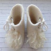 """Обувь ручной работы. Ярмарка Мастеров - ручная работа Пинетки валяные """"Кудрявые"""". Handmade."""