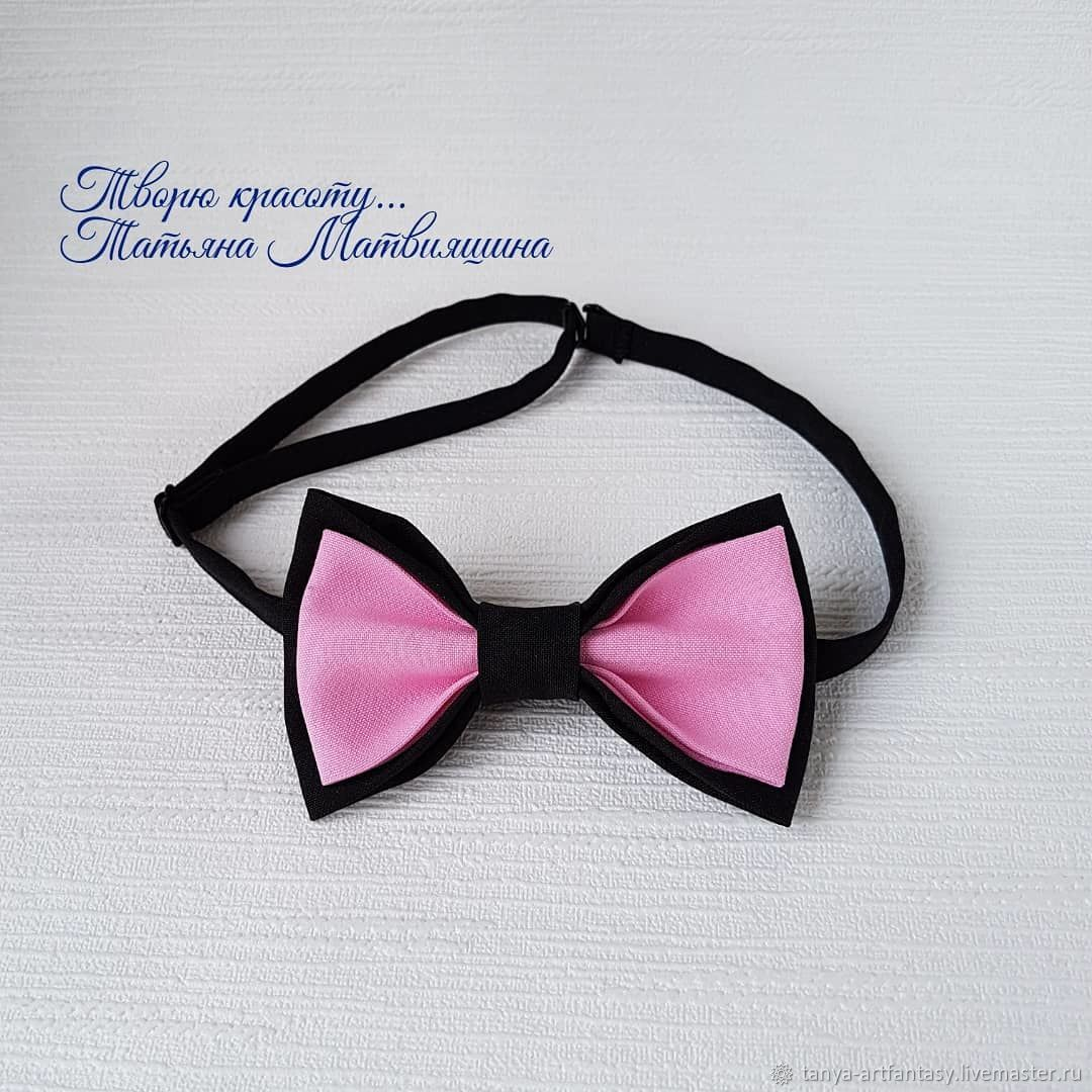 Bow tie black pink. Bow tie grey pink, Butterflies, Vladivostok,  Фото №1