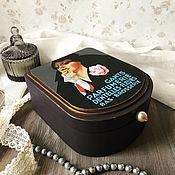 """Для дома и интерьера handmade. Livemaster - original item Шкатулка  для украшений """"Ночь нежна"""". Handmade."""