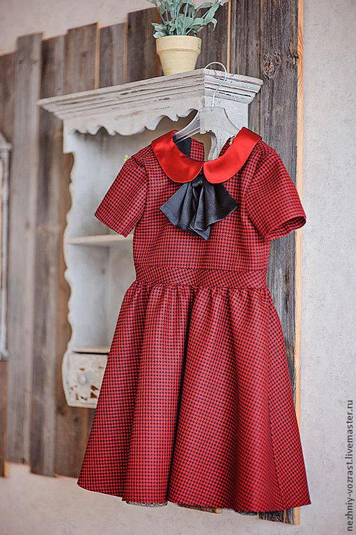"""Одежда для девочек, ручной работы. Ярмарка Мастеров - ручная работа. Купить """"Бабочка"""". Handmade. Гусиная лапка, стильное платье"""