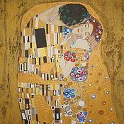 """Картины и панно ручной работы. Ярмарка Мастеров - ручная работа Картина маслом. """"Поцелуй"""" Г. Климт, копия. Handmade."""