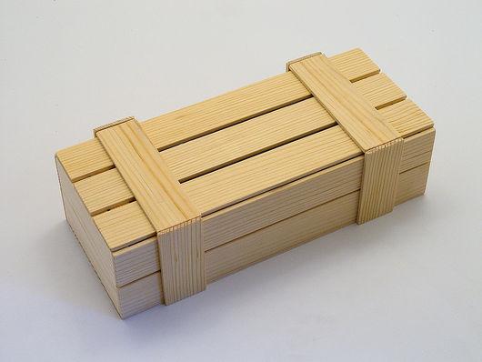 Корзины, коробы ручной работы. Ярмарка Мастеров - ручная работа. Купить Ящик реечный из массива сосны. Handmade. Ящик