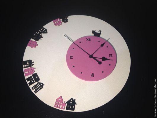 """Часы для дома ручной работы. Ярмарка Мастеров - ручная работа. Купить Часы """"Городок"""". Handmade. Настенные часы, декор для интерьера"""