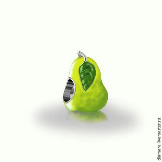 Серебряный шарм `Груша`.Арт. 05-0228.