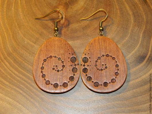 Серьги ручной работы. Ярмарка Мастеров - ручная работа. Купить Серьги из дерева. Handmade. Серьги ручной работы, серьги из дерева