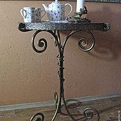 """Для дома и интерьера handmade. Livemaster - original item Кованый столик """" Уютные посиделки """". Handmade."""