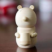 Материалы для творчества handmade. Livemaster - original item Bear box. Handmade.
