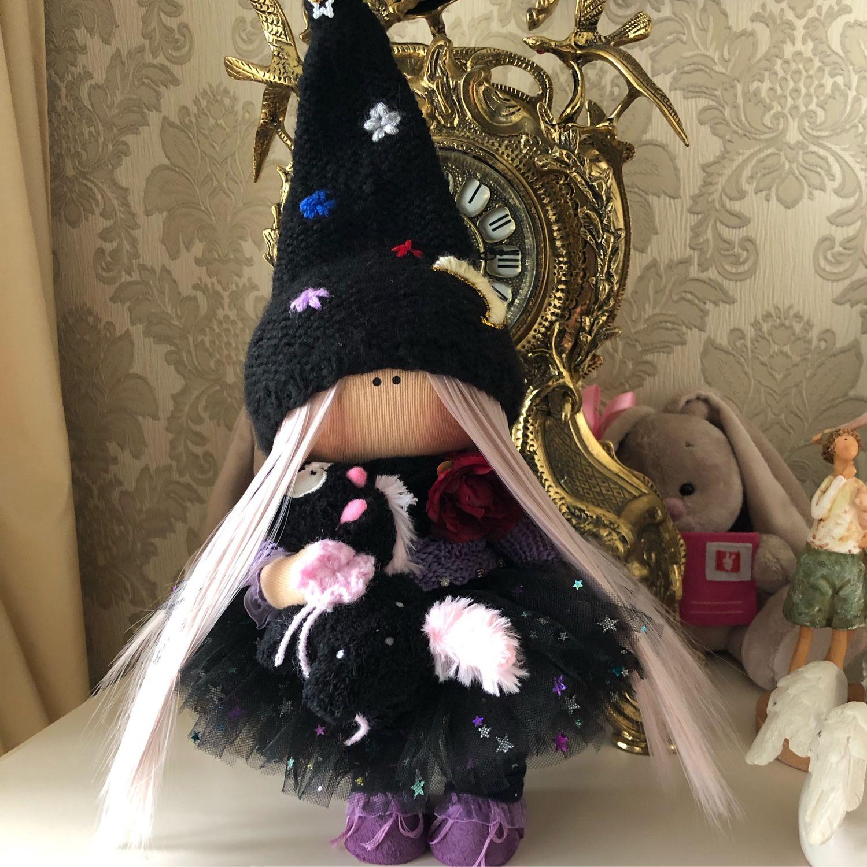 Интерьерная кукла ручной работы. Кукла текстильная. Тыквоголовка, Тыквоголовка, Санкт-Петербург,  Фото №1