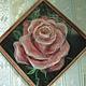 Картины цветов ручной работы. картина из шерсти ,,Роза,,. helenakam. Ярмарка Мастеров. Для девушки, необычный подарок, роза