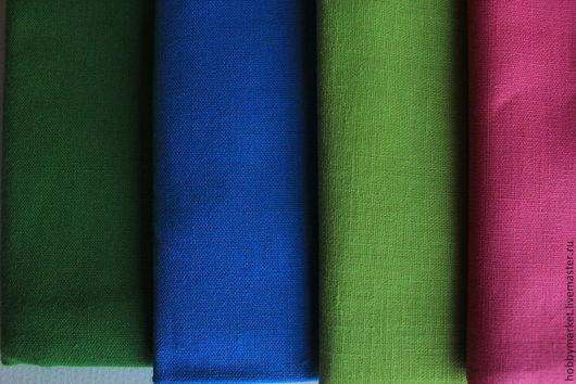 Шитье ручной работы. Ярмарка Мастеров - ручная работа. Купить Лен ткань Однотонный (темные цвета). Handmade. Ткань для творчества