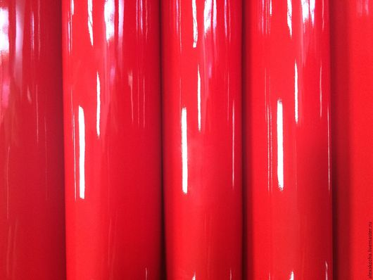 Шитье ручной работы. Ярмарка Мастеров - ручная работа. Купить Кожа натуральная Лак Красный. Handmade. Ярко-красный