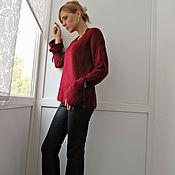 """Одежда ручной работы. Ярмарка Мастеров - ручная работа Вязаный кашемировый пуловер  """"Гранатовый сок"""". Handmade."""