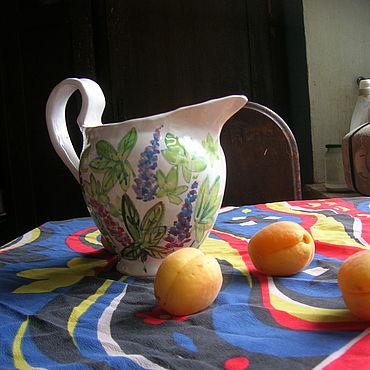 """Посуда ручной работы. Ярмарка Мастеров - ручная работа Кувшин """"Люпины"""". Handmade."""