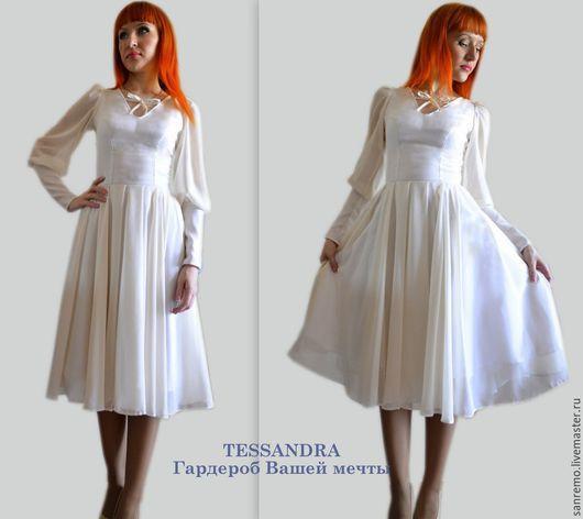 """Платья ручной работы. Ярмарка Мастеров - ручная работа. Купить Платье """"Флор"""". Handmade. Белый, вечерний наряд"""