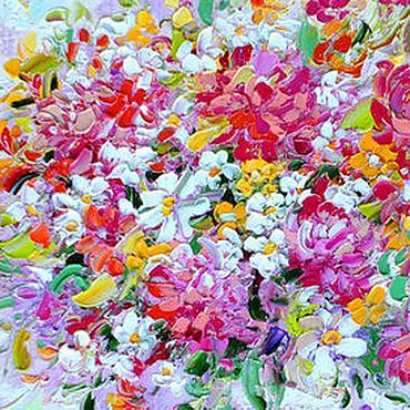 """Картины и панно ручной работы. Ярмарка Мастеров - ручная работа Картина букет цветов """"Бело-Розовый Восторг"""" картина с букетом. Handmade."""