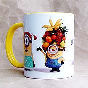 """Посуда ручной работы. Ярмарка Мастеров - ручная работа Чашка """"Миньоны. Карнавал"""". Handmade."""
