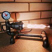 Для дома и интерьера ручной работы. Ярмарка Мастеров - ручная работа Лампа из водопроводных труб Steampunk Art. Handmade.