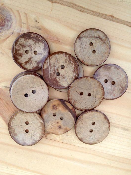 Шитье ручной работы. Ярмарка Мастеров - ручная работа. Купить Пуговицы из кокоса 38 мм. Handmade. Пуговицы, пуговицы для скрапбукинга