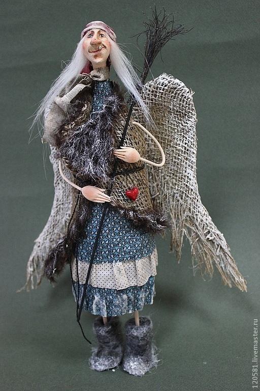 """Коллекционные куклы ручной работы. Ярмарка Мастеров - ручная работа. Купить авторская кукла  """"Баба  Яга"""". Handmade. Баба-яга"""