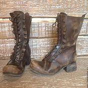 Обувь ручной работы. Ярмарка Мастеров - ручная работа Кожаные ботинки La Boheme-2. Handmade.