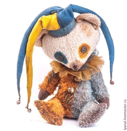 Мишка тедди купить, Яна Ленгина  Yana lengina, тедди мишка  шут `Жюль` авторский мишка тедди- мишка шут, клоун, цирк, шуты, мишки тедди купить,