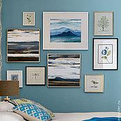 """Картины и панно ручной работы. Ярмарка Мастеров - ручная работа Коллекция картин """"Blue"""". Handmade."""