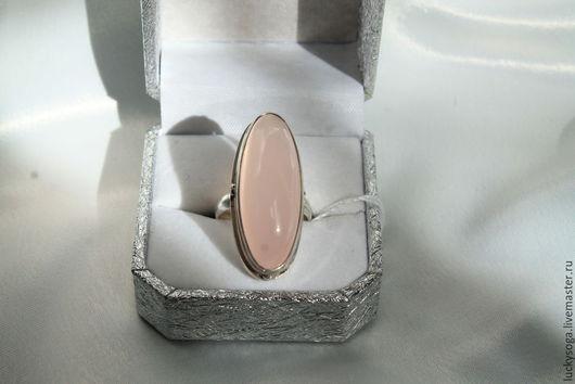 """Кольца ручной работы. Ярмарка Мастеров - ручная работа. Купить Кольцо  с розовым кварцем """" Нежное и изящное"""". Handmade."""