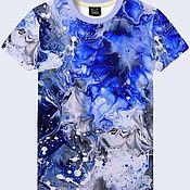 """Одежда ручной работы. Ярмарка Мастеров - ручная работа Мужская футболка """"Абстракция воды"""". Handmade."""