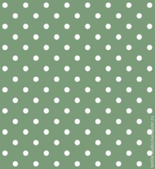 """Шитье ручной работы. Ярмарка Мастеров - ручная работа. Купить Бязь Люкс """"Горошек зеленый"""" 150 см. Handmade."""