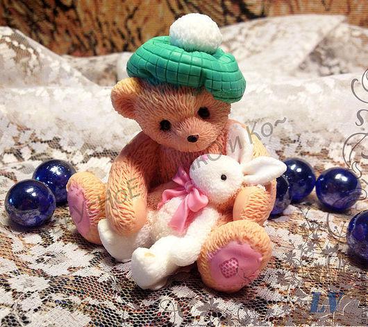 """Мыло ручной работы. Ярмарка Мастеров - ручная работа. Купить Мыло для рук """"Тедди с зайкой"""". Handmade. Cherished teddy"""