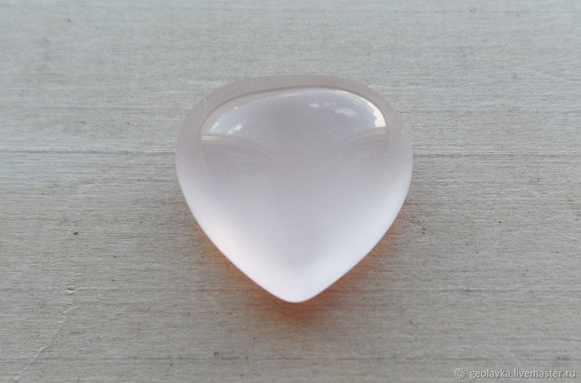 ручной работы. Ярмарка Мастеров - ручная работа. Купить Кабошон из розового кварца, сердце 12,5х12,8х6,3мм. Handmade.