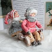 Сувениры и подарки handmade. Livemaster - original item Christmas toys made of cotton wool