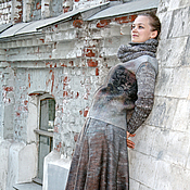 handmade. Livemaster - original item Felted jacket and skirt March. Handmade.