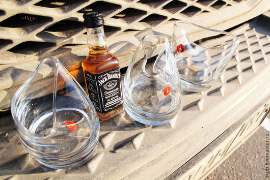 Весёлые бокалы для виски. Стоимость указана за комплект - 3 бокала.